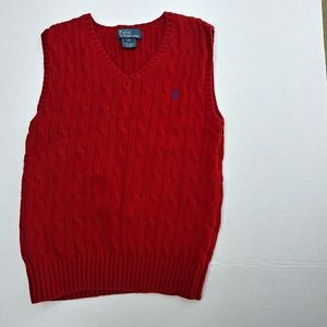 Polo boys size 6 red knit pullover